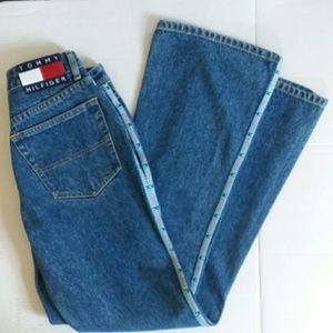 [VINTAGE] TOMMY HILFIGER logo trim jeans